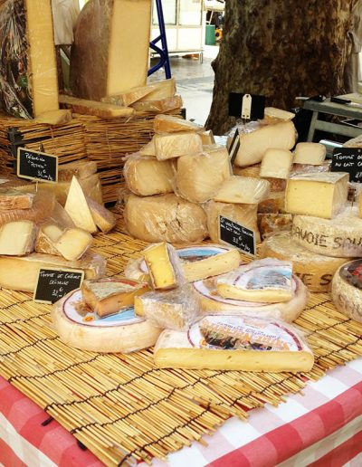 Cheese for sale at a Paris market