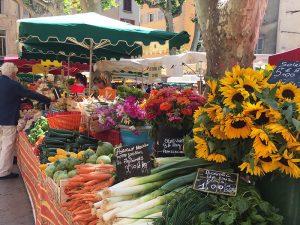 Flowers for sale at a Paris market