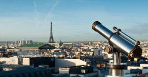 telescope and panoramic of Paris